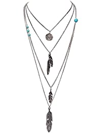Glitz Stylish Fashion Silver Multi Layered Necklace For Women/Mother/Anniversary/Accessories - LowCost/Party Wear...