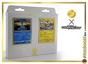 Zebritz (zebritz) 45/181 & Lapras (Lokhlass) 31/181 Tooboost X Sonne & Mond 9 Teams Sind Trumpf - Juego de 10 Cartas Pokémon y 1 Goodie Pokémon
