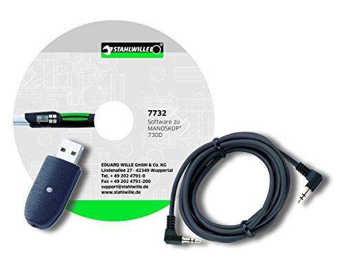 photo Stahlwille 96583627 7759-3 Câble Adaptateur USB avec Fiche Jack et Logiciels pour 730D 7732 N N