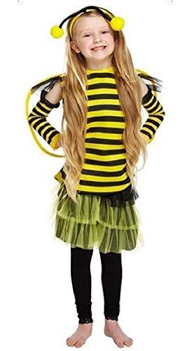 �dchen Biene Tier Insekten Mini Biest Kostüm Kleid Outfit 4-12 Jahre - Gelb/Schwarz, 10-12 Years ()