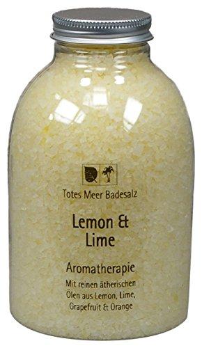 Totes Meer Natur Badesalz LEMON & LIME 630 gr. beduftet mit ätherischen Ölen von Lemon, Lime, Grapefruit und Orange (Weiße Grapefruit)
