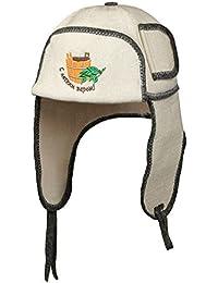 Sombrero de sauna con bordado (S legkim parom) Ushanka Fieltro Para Sauna, gorro para sauna