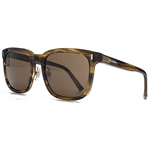Dolce & Gabbana DNA-Square-Sonnenbrille im gestreiften Tabak DG4271 292573 56 56 Brown (Dna-sonnenbrille)