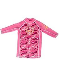 Surfit T-shirt anti-UV à manches 3/4 pour fille Protection UV 50+