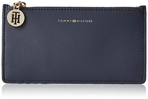 Tommy Hilfiger Damen Tommy Statement Med Cc Wallet Geldbörse, Blau (Corporate), 0.5x10x19 cm