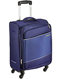 American Tourister Timor Polyester 55 cms Blue Softsided Cabin Luggage (AMT Timor Spinner 55CM - Blue)