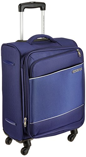 American Tourister Timor Polyester 55 cms Blue Softsided Cabin Luggage (AMT Timor Spinner 55CM – Blue)