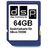 DSP Memory Z-4051557365841 64GB Speicherkarte für Nikon D3200
