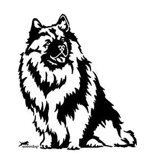 Car Sticker Wolf AT0229Car Sticker Caravan Campervan Tip Dog Head Amberdog - 60x40cm - weiß