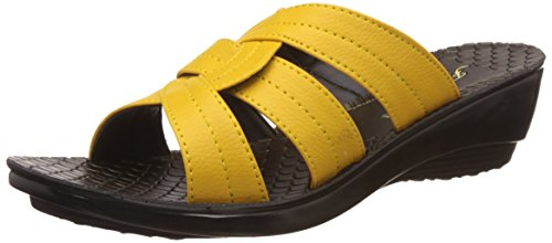 Action Shoes Women's Yellow Flip-Flops and House Slippers - 5 UK/India (37 EU)(PL-3935)