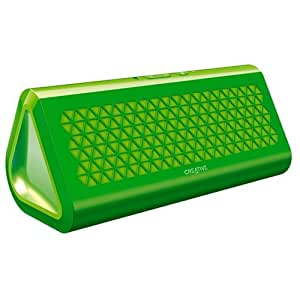 Creative Airwave Portable Bluetooth Wireless NFC Speaker with Built-in Microphone and Aux-in - Green