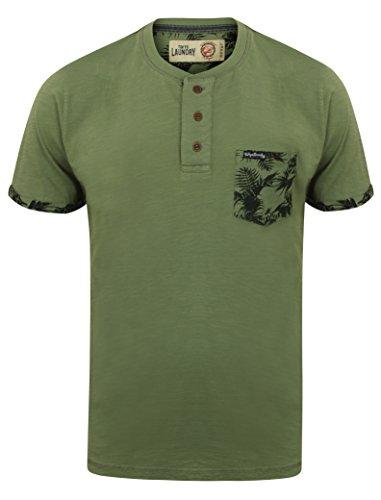 Tokyo Laundry Herren Blusen T-Shirt, Einfarbig grün grün Small 1C9134 _Akoni_Olivine_Khaki