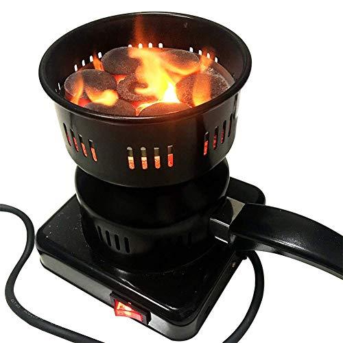 Encendedor de carbón eléctrico, Estufa de Quemador de Fuego para cachimba - Recubrimiento de Porcelana...