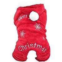 Xianjun Weihnachtskostüm für Haustiere, Verkleidung für Hunde, Kleidung für Haustiere, Kostüm für Kleine Hunde, Welpen, Kleidung