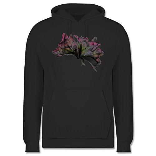 Blumen & Pflanzen - Orchidee Timelapse - Männer Premium Kapuzenpullover / Hoodie Dunkelgrau
