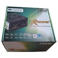 TwinMOS 750W Power Supply- X-Power مع مروحة تبريد 12 سم
