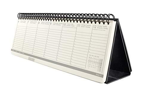 SIGEL C2080 Tischkalender 2020, ca. 30 x 14 cm, Hardcover, schwarz, Conceptum