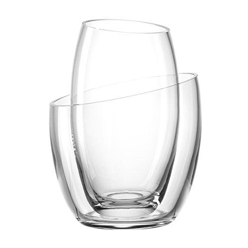 Leonardo Team Vasen, 2-tlg., Tischvase, Dekovase, Dekoration, Glas, H 25.5 cm, 34933