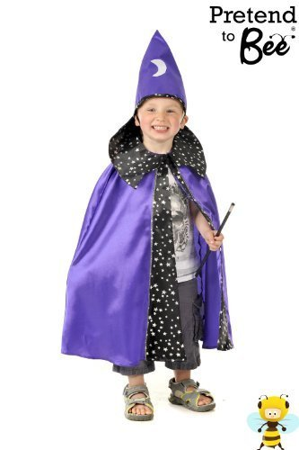 Wizard Cloak & Hat Fancy Dress Halloween Kostüm 3-7 Jahre [Spielzeug] ()