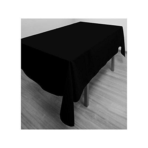 Soleil d'ocre Mantel antimanchas rectangular 140x300 cm ALIX negro