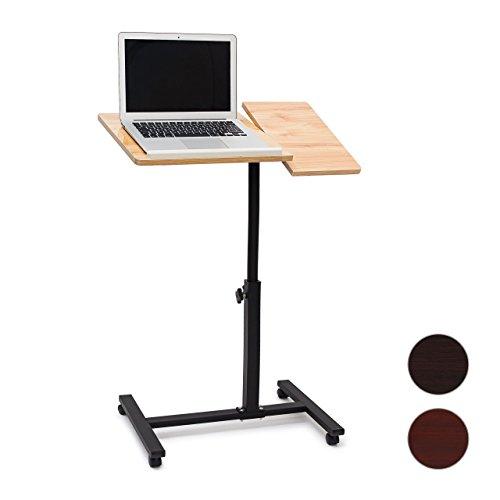Relaxdays-Laptoptisch-hhenverstellbar-H-x-B-x-T-95-x-60-x-405-cm-Sofatisch-Beistelltisch-mit-Rollen-samt-Bremsen-fr-Notebook-mit-Ablage-fr-Maus-mit-Antirutsch-Leiste-verschiedene-Farben