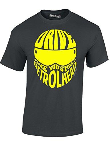 Baddery Motorrad T-Shirt: Drive It Like You Stole It - Auto Shirt - Geschenk für Autoliebhaber - T-Shirt für Alle Tuning, Drift, und Motorsport Fans - T-Shirt Biker - Geschenk für Motorradfahrer (M)
