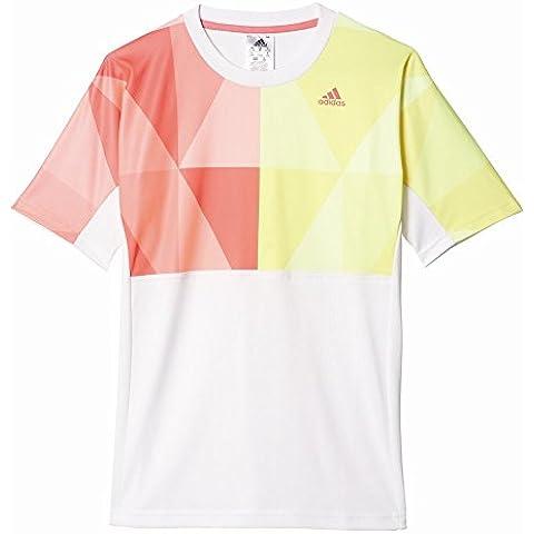 adidas B Pro Tee - Camiseta de manga corta para niños de 11-12 años, color blanco