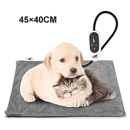 Toozey Katzen & Hund Heizmatte Innen 45 * 40cm, Timing & Temperatur Einstellbar Sicher Elektrisch Haustier Heizdecke mit…