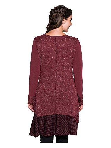 Joe Browns Femmes Robe Grandes tailles Bordeaux