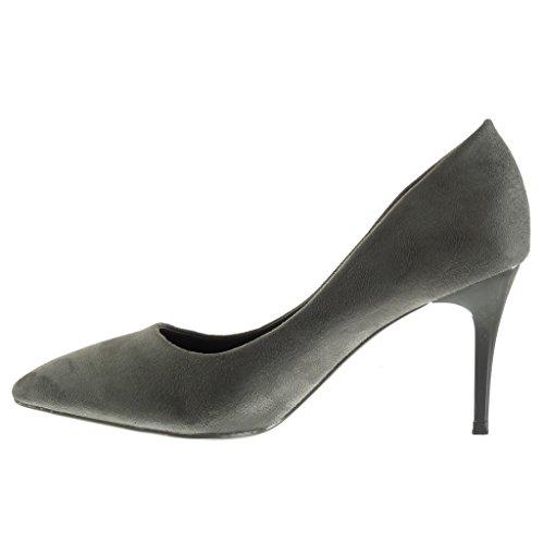 Angkorly Damen Schuhe Pumpe - Stiletto - Dekollete Stiletto High Heel 8.5 cm Grau