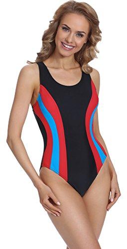 Merry Style Damen Schwimmanzug BD 715 Schwarz