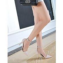 Sandalias de mujer Fashion Club Zapatos Charol Boda Boda parte diario de verano/vestido de cóctel Fashion Club zapatos boda,Nude,US3.5 / UE33 / UK1.5 / CN32