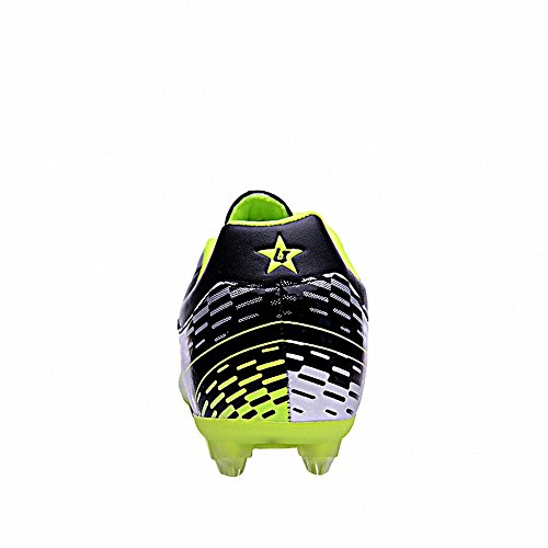 Ben Sports Tf AG FG Entraînement de Football Homme Chaussures de Football Garçon Mixte Adulte Enfant,31-44 AG/FG-Noir