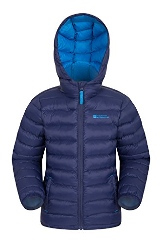 Mountain Warehouse Seasons Mädchen Gefütterte Jacke - Gefütterte Isolierung Winterjacke, wasserdicht Kinderjacke, Taschen - Ideal für den täglichen Gebrauch Marineblau 140 (9-10 Jahre)