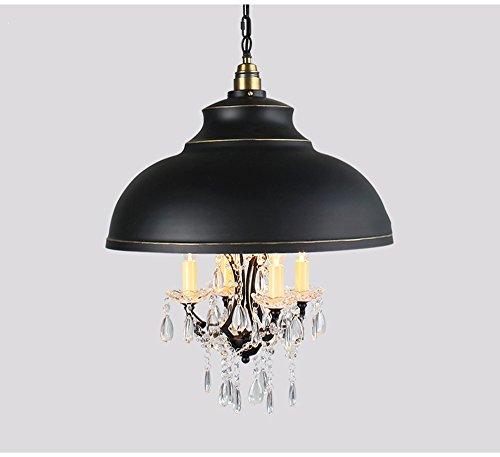 ZHDC® American Style Iron Kerze Licht Restaurant Lichter Balkon Bar Bar Kristall Licht Schlafzimmer Werkzeuglampen Stark Antioxidans