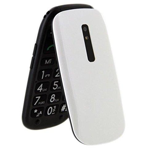 Telefunken TM220 - Móvil de teclas grandes (2.4') color blanco
