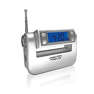 Akita Electronics TimeLite Radio Digital Alarm Clock, Calendar and Torch in 1
