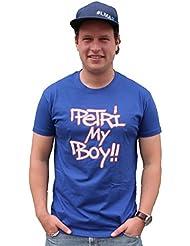 Petri My Boy T-shirt Royal de pêche Bleu–T-Shirt * T-Shirt pour pêcheurs * 100% coton–col rond–de XS à XXXL