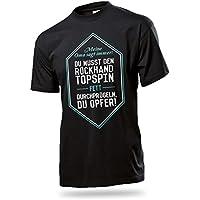 Divertido entrenamiento tenis de mesa–Camiseta de/Calidad y ingeniosamente Camiseta de tenis de mesa para jugadores y equipos, tallas: S–5x l, material: 100% algodón, color Oma, tamaño 5XL