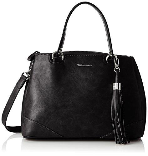 Tamaris Damen Melanie Handbag Henkeltasche, Schwarz (Black), 13.5x25x32 cm -