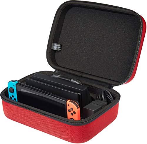AmazonBasics - Custodia da viaggio per Nintendo Switch - Rosso