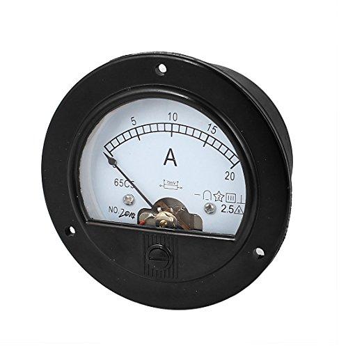SOURCING MAP DC 0-20 A Mesure Gamme Rond Analogique Panneau Ampèremètre Jauge ampèremètre