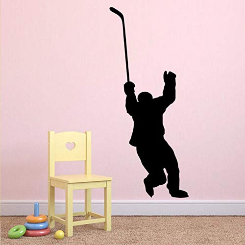 Pbldb Hockey Player Wandtattoo Hockey Sport Wandaufkleber Für Jugendliche Jungen Zimmer Schlafzimmer Wohnheim College Vinyl Wandkunst Dekor Abnehmbare 32X59 ()