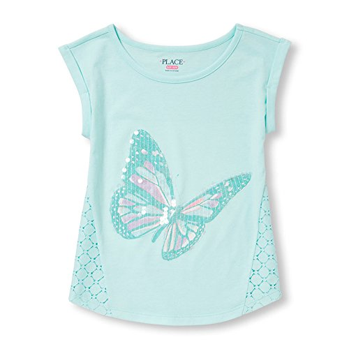 The Children's Place Girls Round Neck Embellished Tee