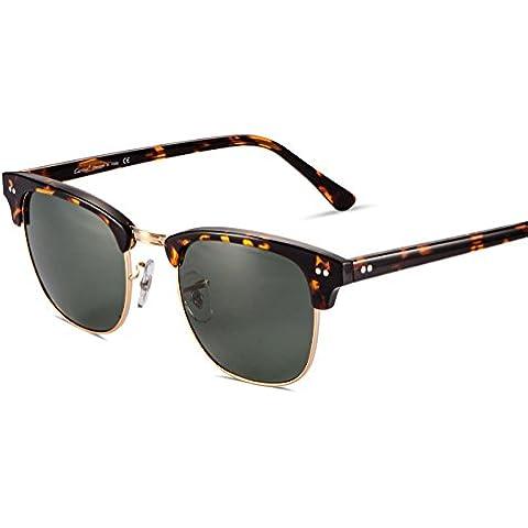 Gafas de Sol,Carfia UV400 Gafas de Sol Metal de Moda para Conducción Pesca Esquiar Golf Aire Libre para Mujer y Hombre Unisex B