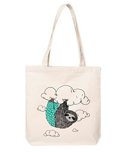 cute-sloth-print-tote-bag-funny-sloth-print-shopping-bag-sleepy-sloth-cotton-shoulder-bag-sloth-prin