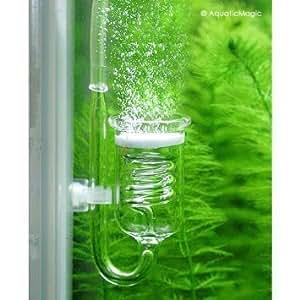 Rhinox NEW Nano Carbon Dioxide CO2 Diffuser Glass Reactor for Aquarium Tank Plants Spiral