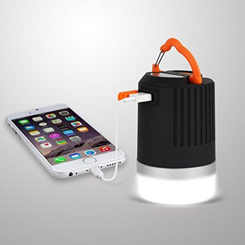 Lanterna da Campeggio Impermeabile con 8800mAh, Funzione di PowerBank, Panpany Lampada Ricaricabile per Esterni con Output USB da 2A. Perfetto per il Campeggio, le Esplorazioni, la Pesca i Picnic e le Emergenze
