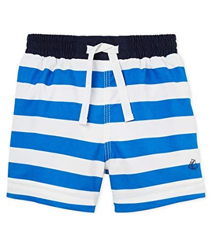 Petit Bateau Baby-Jungen Belgrade Shorts, Mehrfarbig (Riyadh/Marshmallow 01), 68 (Herstellergröße: 6M/67cm)
