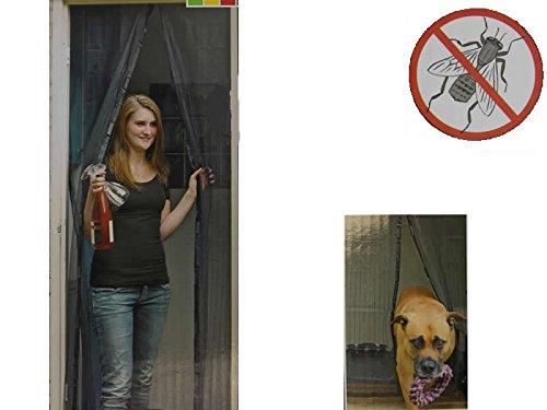 Tür Insektenschutz 220x100 cm mit Magnetverschluss Fliegenschutz Moskitonetz Balkontür Terrassentür Mückenschutz - Insect Guard